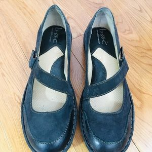 B.O.C. Black leather Mary Janes shoes 7M